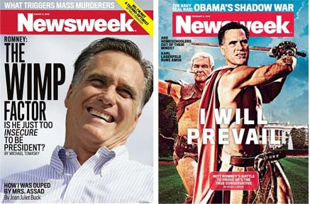 Romney newsweek covers
