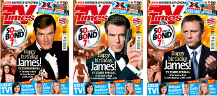 TV times bond covers
